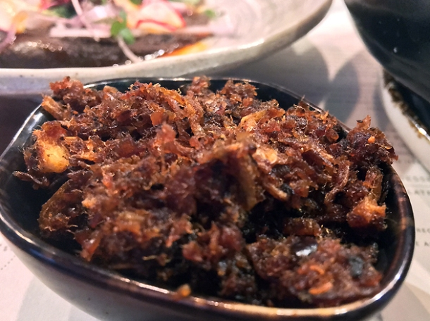 balachaung prawn relish at lahpet shoreditch