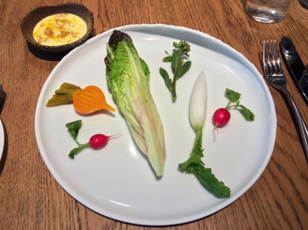 crudites at hide above