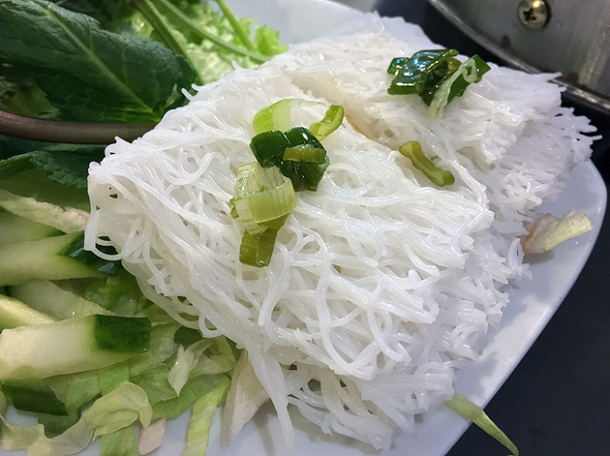 goat vermicelli at mrs le's