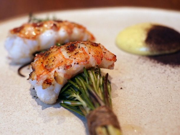 grilled langoustines at hide ground