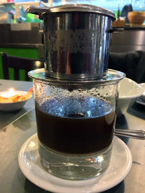 hot vietnamese coffee at mrs le's