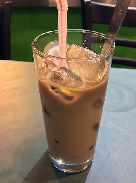 iced vietnamese coffee at mrs le's