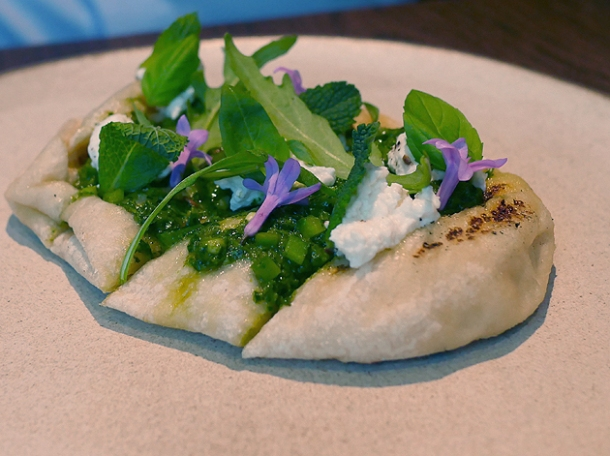 ricotta flatbread at hide ground