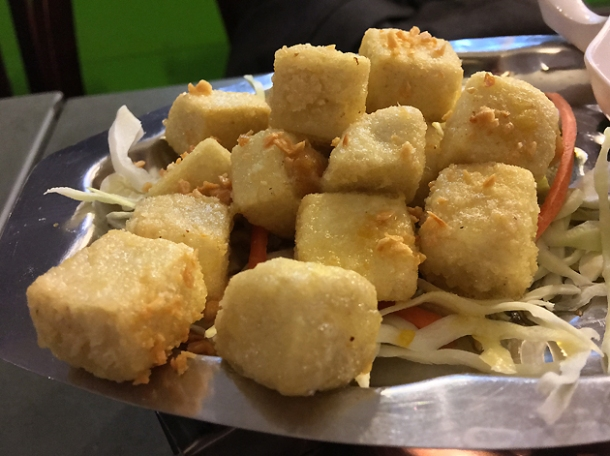 salted egg tofu at mrs le's