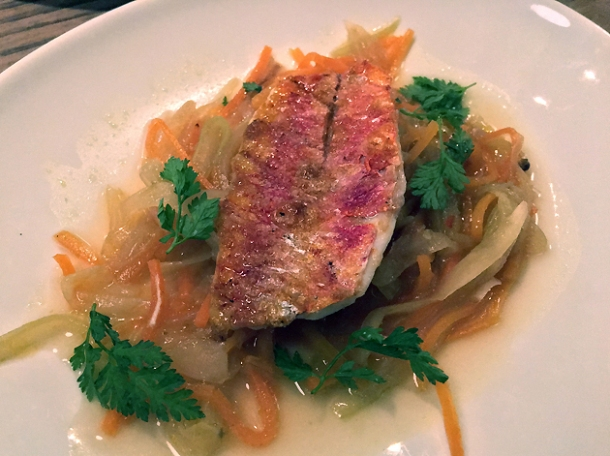 soused red mullet at brat