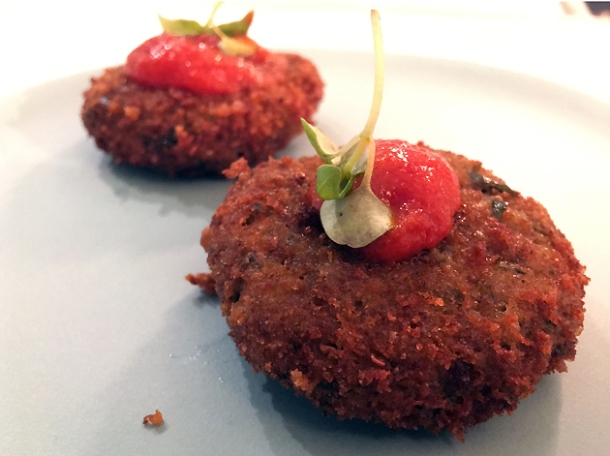 aubergine polpette at lina stores greek street