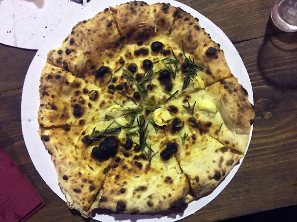 focaccia from rust bucket pizza at street feast woolwich public market