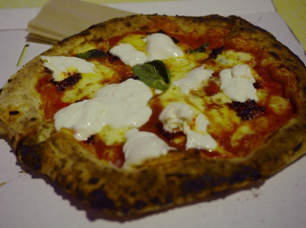 margherita with nduja and burrata at street feast woolwich public market