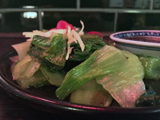 pak choi with yellow bean sauce at daddy bao