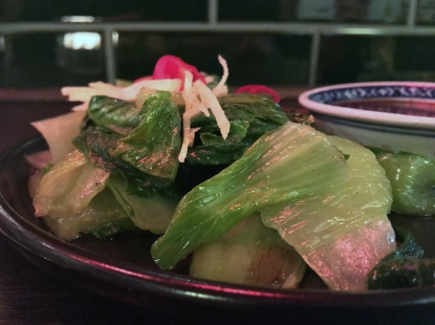 pak choi with yellow bean sauce at daddy bao
