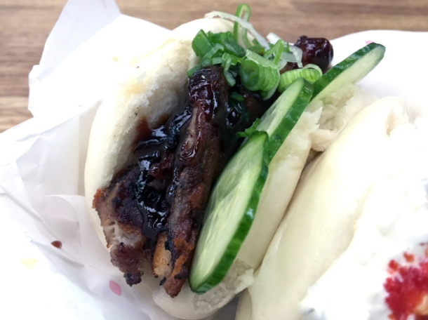 pork bao from yum bun at street feast woolwich public market