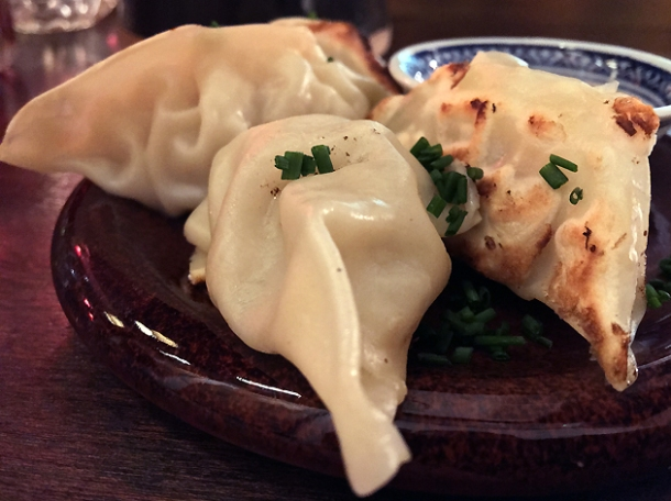 pork dumplings at daddy bao