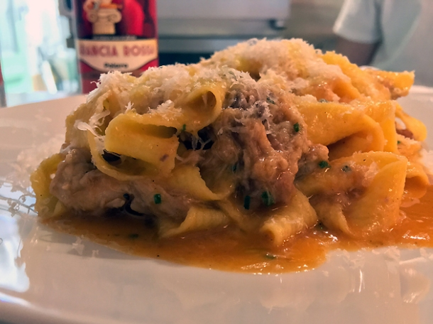 rabbit ragu pappardelle at lina stores restaurant