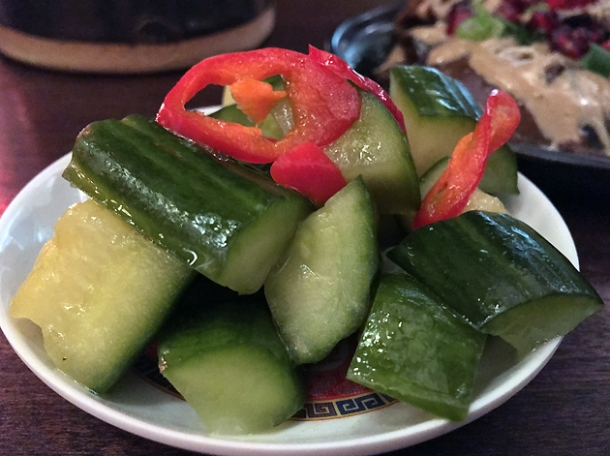 smashed cucumbers at daddy bao