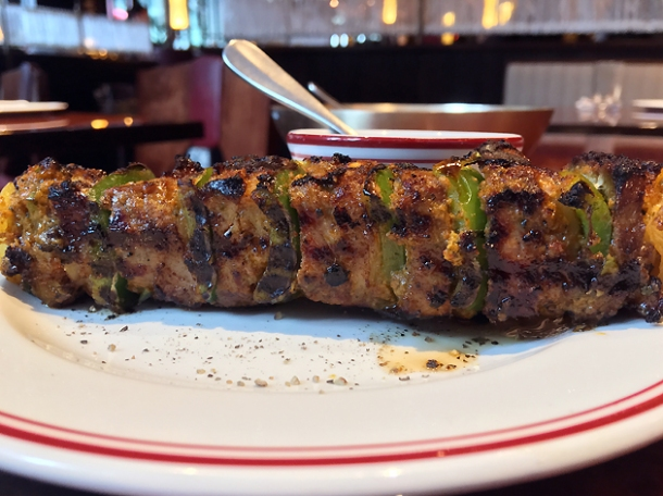 afghan lamb cannon kebab at brigadiers