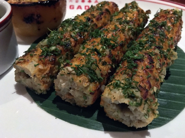 crab sheekh kebabs at brigadiers