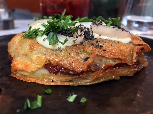 pastirma potato gratin at kyseri london