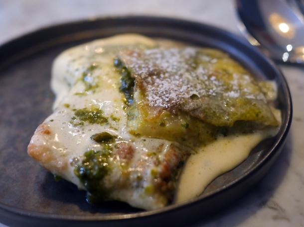 pistachio katmer with mastic parfait at kyseri london