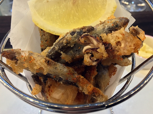 fries with eyes deep-fried squid and whitebait at bob's lobster