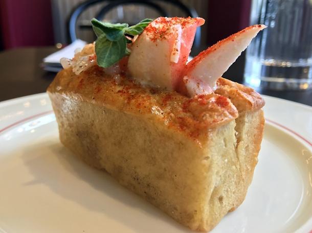 mini lobster roll at bob's lobster
