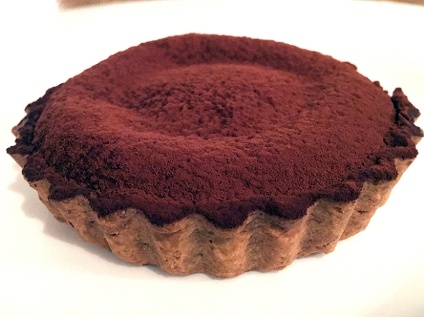 molten chocolate tart with Sichuanese custard at henry's bath
