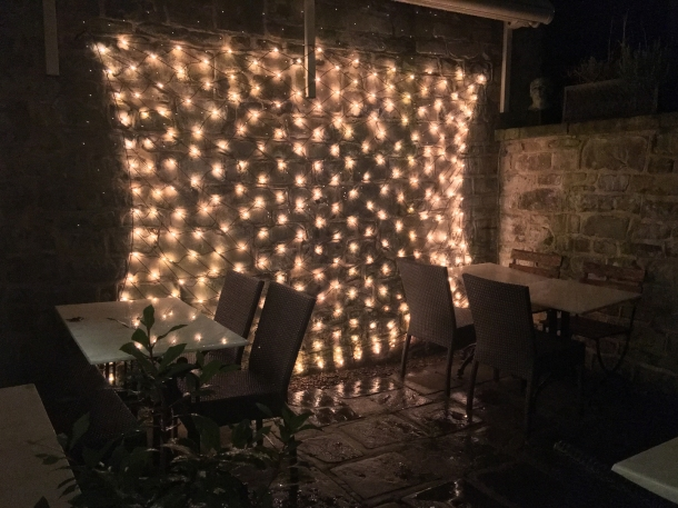 outdoor patio at henry's bath
