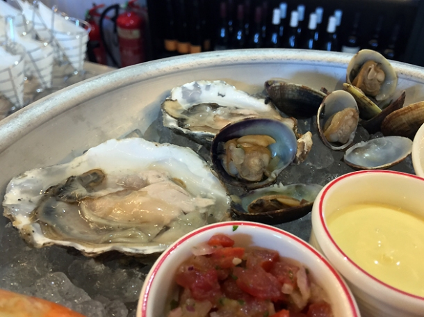 oysters and clams at bob's lobster