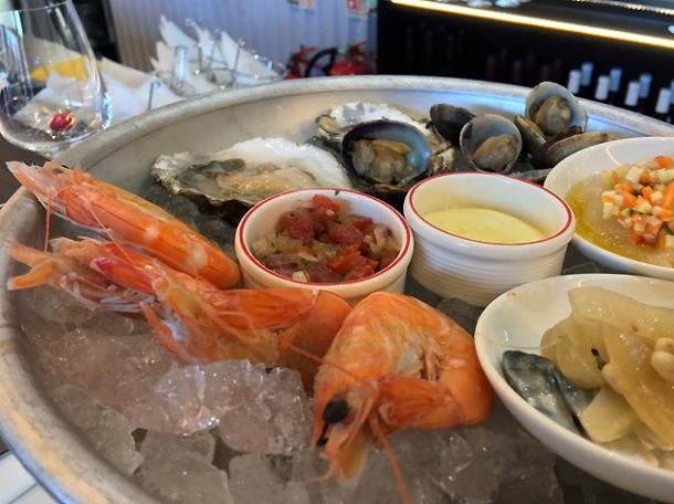 seafood platter at bob's lobster