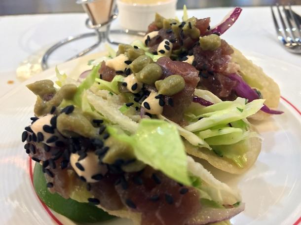 tuna tacos at bob's lobster