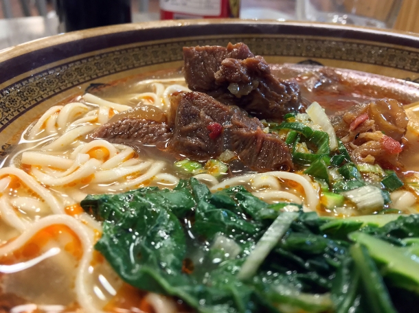 beef noodle soup at xian biang biang noodles aldgate