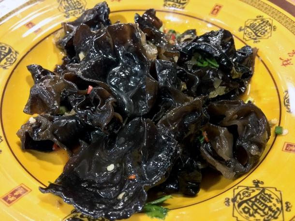 black fungus at xian biang biang noodles aldgate