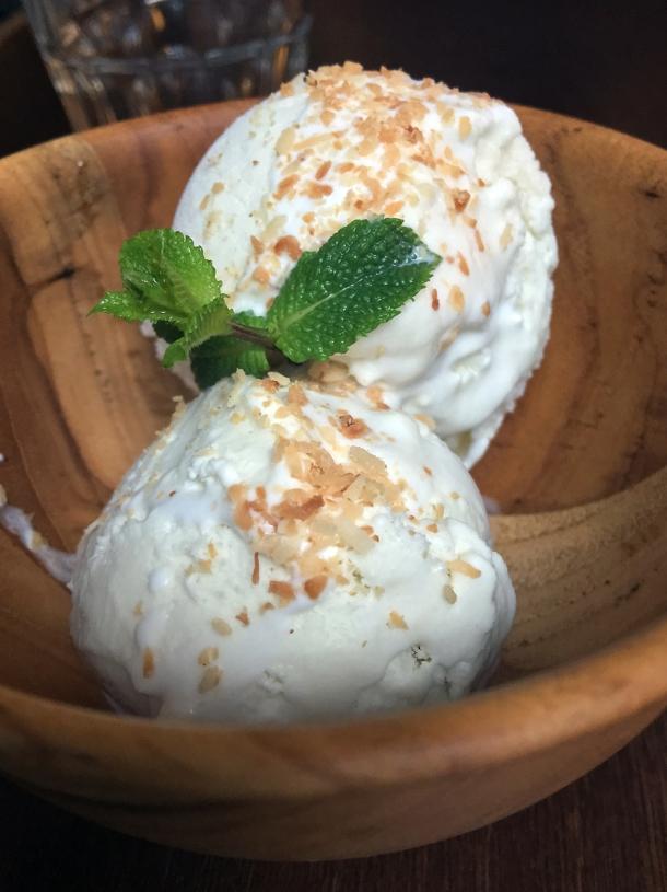 coconut ice cream at kin et deum