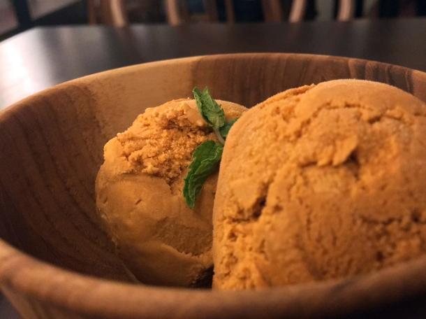 thai milk tea ice cream at kin + deum london bridge