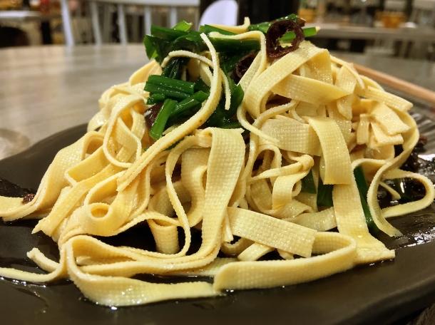 tofu skin at xian biang biang noodles aldgate