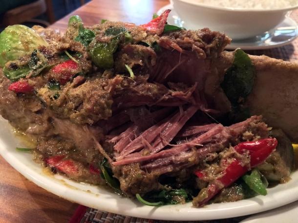 beef short rib curry special at singburi leytonstone