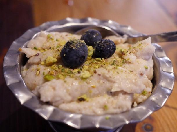 chilled kheer at masala wala cafe