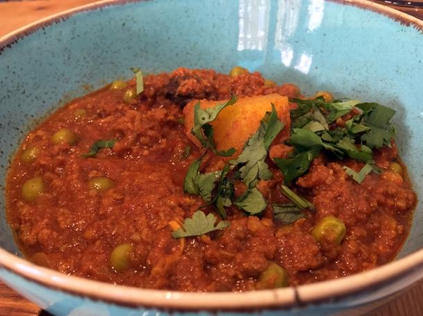 minced lamb curry at masala wala cafe