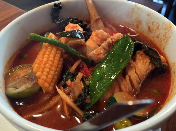 red snapper jungle curry at singburi