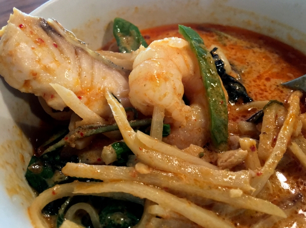 seafood red curry at singburi