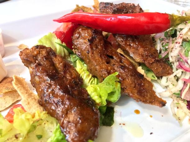 beef brisket kebab at bababoom islington