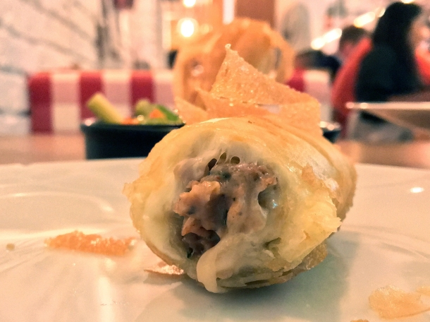cheeseburger spring roll at red farm london