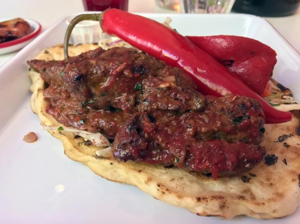 cherry lamb kofte kebab at bababoom islington