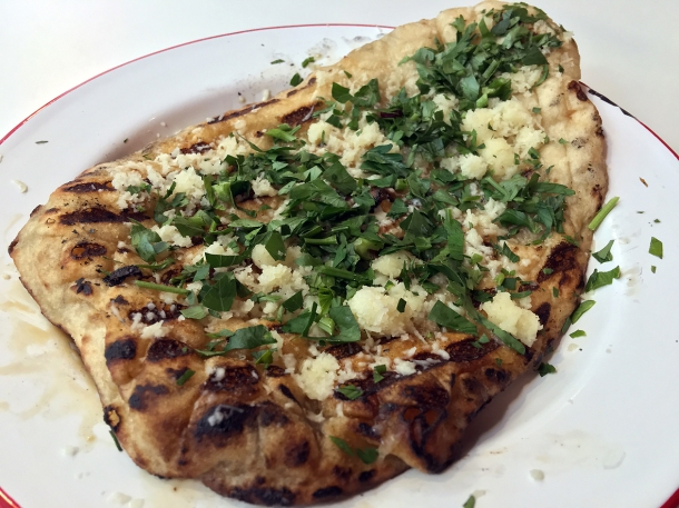 garlic flatbread at bababoom islington