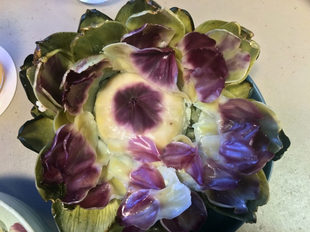globe artichoke at two lights