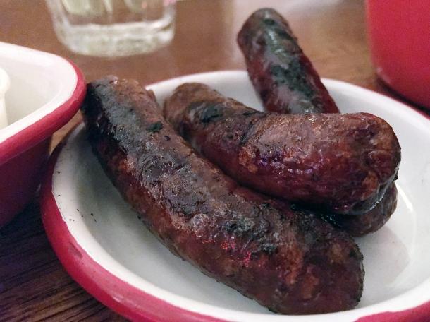 merguez sausages at bababoom islington