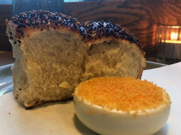 potato bread and bottarga butter at two lights