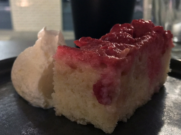 raspberry cake at maison bab covent garden