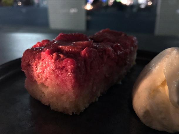 raspberry cake at maison bab london