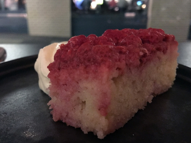 raspberry cake at maison bab
