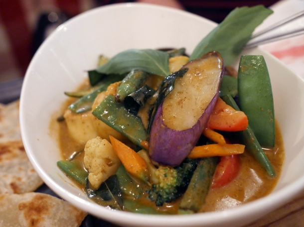 vegetarian curry at red farm covent garden